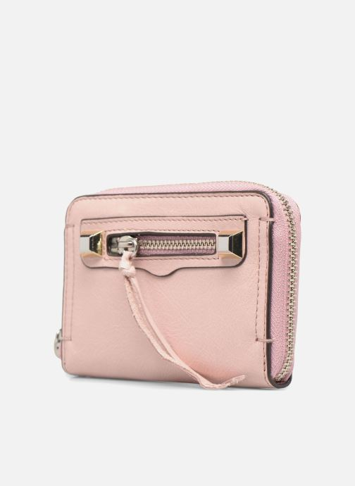 Wallets & cases Rebecca Minkoff MINI REGAN ZIP WALLET Pink model view